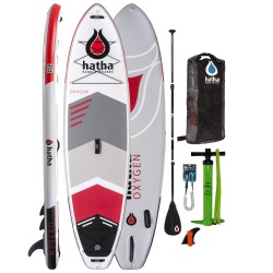 """Hatha Oxygen 10'6"""" Inflatable Paddle Board (ISUP) Red"""