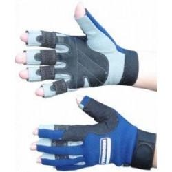 Typhoon Race 3 Neoprene Amara Sailing Gloves - Blue