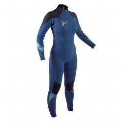 Gul Ladies Response 5/3 Full length Super Stretch Winter Wetsuit - Azure Blue