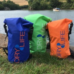 Dry Life Waterproof dry bags - 25L Lime, Orange or Blue