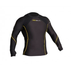 Gul Mens Evotherm Extreme Long Sleeved Thermal Top Black/yellow Stitching