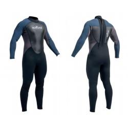 Neptune Mens 3/2mm Full Wetsuit - Blue/Black/Charcoal