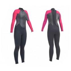Neptune Ladies 3/2mm Full Wetsuit - Pink/Black