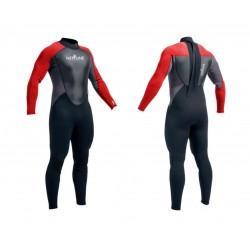 Neptune Mens 3/2mm Full Wetsuit - Red/Black/Charcoal