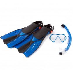 Body Glove Adult Mask, Snorkel & Fins Set with Mesh Bag