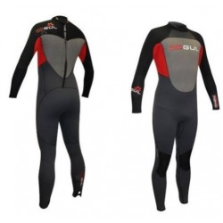 Gul Childs 5/3mm Response Blindstitch Steamer Wetsuit- Black/Red/Grey