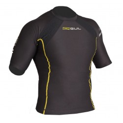 Gul Mens Evotherm Extreme S/S Thermal Top Black/yellow Stitching