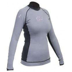 Gul Ladies Evotherm Thermal Long Sleeved Rash Vest Grey/Black