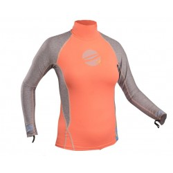 Gul Ladies Swami Long Sleeve Rash Vest Coral/Marl
