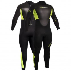 Gul Mens Response 3/2 mm Flatlocked Wetsuit - Black/Lime