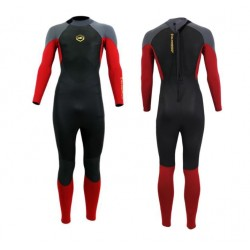 Alder Junior Stealth  5/4/3 mm Wetsuit - Black/Red/Charcoal
