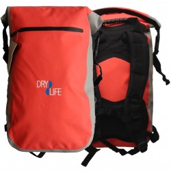 Dry Life Waterproof 25L Wet & Dry Back Pack- Red