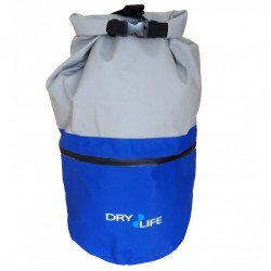 Dry Life Waterproof Dual Compartment 30L Wet & Dry Bag Blue/Grey