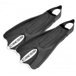 Cressi Elastic Short Snorkelling Travel Fins Black/White