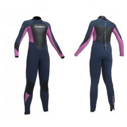 Gul Childs 5/3mm Response Blindstitch Steamer Wetsuit - Navy/ Pink