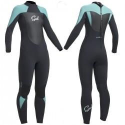 Gul Ladies Response 5/3 Full length Winter Wetsuit - Black/Pistacio