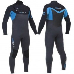 Gul Mens CZ Response 5/3mm ABS Chest Zip Wetsuit Graphite/Blue
