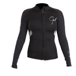 Gul Response  Ladies 3mm Neoprene  Flatlocked Wetsuit Jacket Black