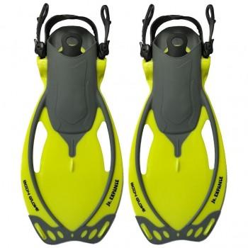 Body Glove Child's Expanse Fins - Yellow/Grey
