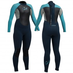 Gul Ladies Response 3/2mm Full Wetsuit - Navy/Turquoise