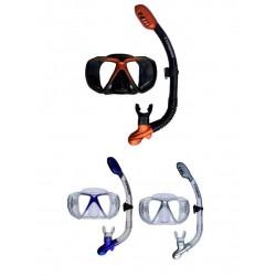 Typhoon Metal X Adult Silicone Mask & Dry Top Snorkel Set