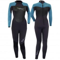 Gul Ladies Neptune 5/3mm Full Wetsuit - Pewter/Black