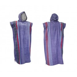 Gul Adult Hooded Changing Robe Poncho - Aztec Mauve