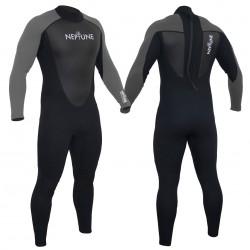 Gul Mens Neptune 3/2mm Full Wetsuit  - PEWTER