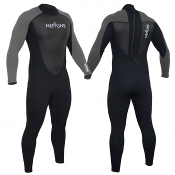 Gul Mens Neptune 3/2mm Full Wetsuit  - PEWTER