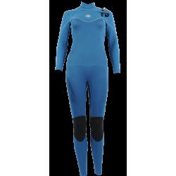 Alder Pyro Chest Zip Ladies 4.3 Wetsuit - Dusky Blue