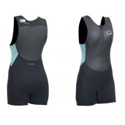 Gul Response Ladies 3mm Short Jane Wetsuit - Black/Glacier