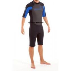Swarm Mens Premium XFlex 3mm Shortie Wetsuit - blue