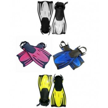 Typhoon Adult T-Jet Fins - blue, yellow, silver or pink