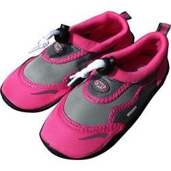 TWF Girls/Ladies Graphic Aqua Shoes - Pink/ Grey