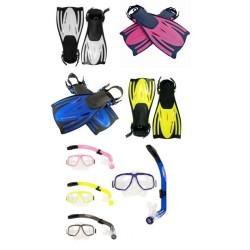 Typhoon Pro Junior/Ladies Mask, Snorkel & Fins - colour choice