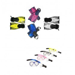 Typhoon Adult Silicone Mask,Snorkel & Fins set