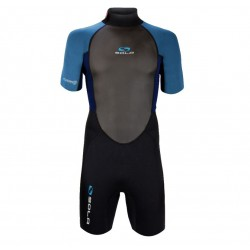 Sola Fusion mens 3mm Shortie Wetsuit - Blue/Black