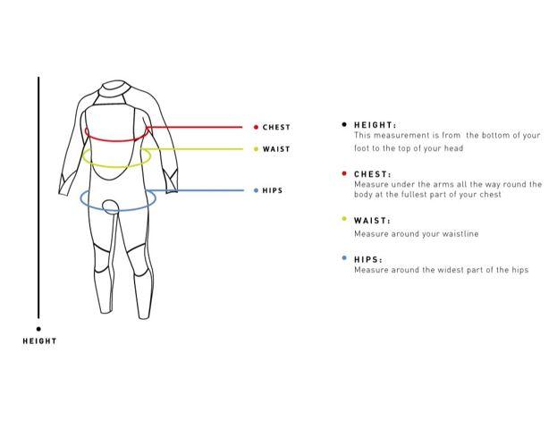 Alder Adult Reflex Chest Zip 5/4/3 mm Full Winter Wetsuit